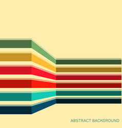 background with colored stripes vector image