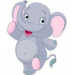 Baelephant dancing vector