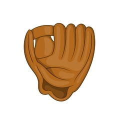 Baseball glove with ball icon cartoon style vector image