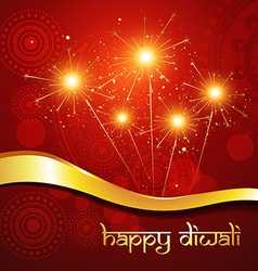 beautiful hindu diwali festival art vector image