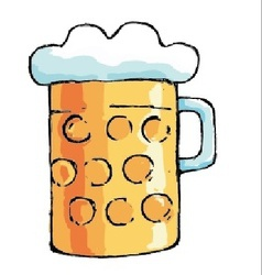 Beer pitcher vector