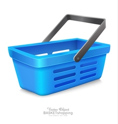 blue shopping basket to Market vector image