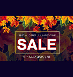 bright template of sale banner with site vector image