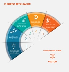Business infographic template five positions vector