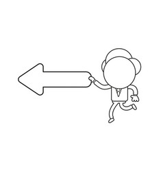 businessman character running and holding arrow vector image