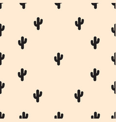 Cactus seamless pattern repeat wallpaper vector