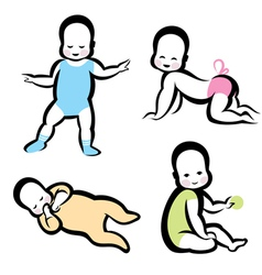 Cheerful active baby symbol vector