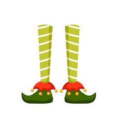 Christmas elf feet flat pixie vector