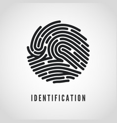 circle fingerprint icon design for application vector image