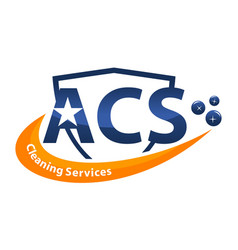Cleaning services letter a c s vector
