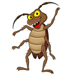 Cockroach cartoon vector