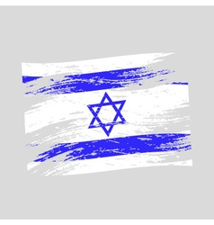 color israel national flag grunge style eps10 vector image