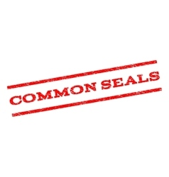 Common Seals Watermark Stamp vector