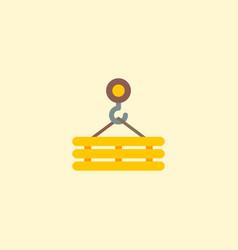 crane hook icon flat element vector image