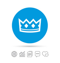 crown sign icon king hat symbol vector image
