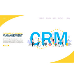 customer relationship management website vector image