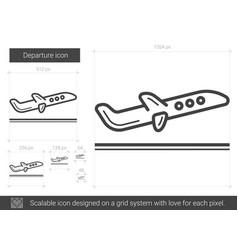departure line icon vector image