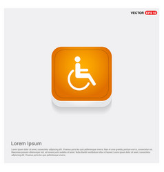 Disabled person icon vector