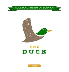 Duck flying brand logo sign style trend vector