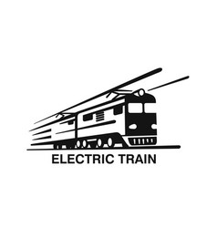 electric train emblem on white background vector image