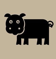 Flat Pig Design vector