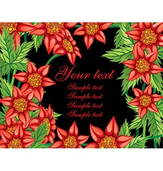 Floral Frame with Text Space vector image