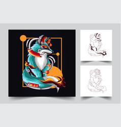 fox artwork vector image