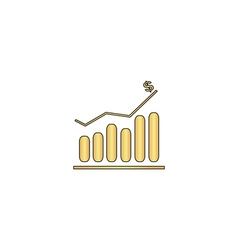 Graph computer symbol vector image