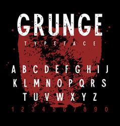 grunge alphabet 011 vector image