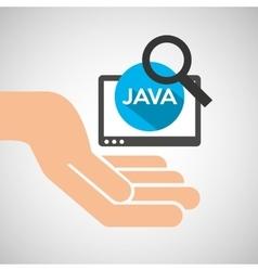 hand optimization technology java web vector image