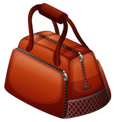 Handbag in brown color vector