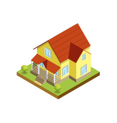 House finishing and siding isometric 3d icon vector