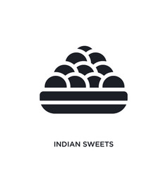 Indian sweets isolated icon simple element from vector