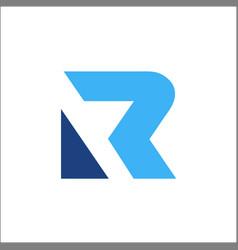 initials letter r logo design modern vector image