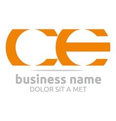 letter c e alphabet element icon vector image