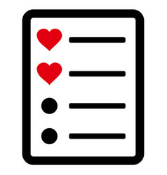 Love list page icon vector