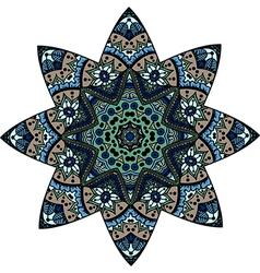mandala star vector image