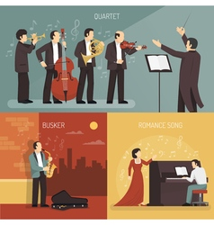 Musicians Design Concept Set vector