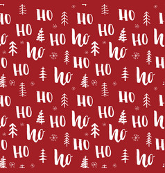 New year and christmas seamless pattern with ho vector