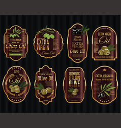 olive oil retro vintage background collection 3 vector image