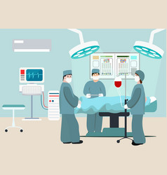 Operating room surgeon vector
