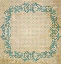ornate element in Victorian style vector image