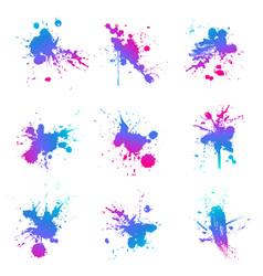 paint splat fluo vector image