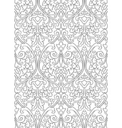 pattern with flowers for wallpaper vector image