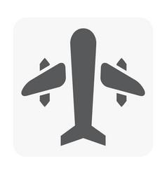 plane icon black vector image