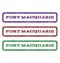 Port macquarie watermark stamp vector