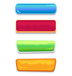 push-buttons of different colors and shapes set vector image