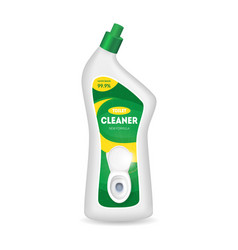 realistic detailed 3d bottle with toilet cleaner vector image