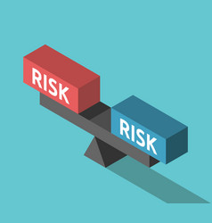 Risks weighing concept balance vector