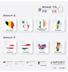 Road To France Football Tournament Sport vector image